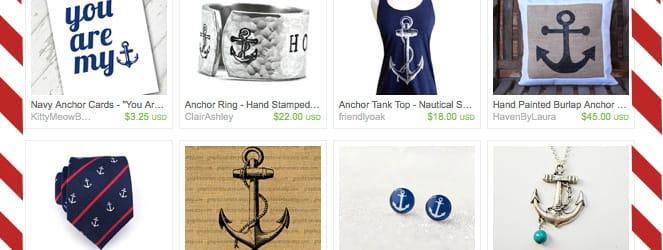 Anchor's Away: My Etsy Picks on Katie Crafts; https://www.katiecrafts.com