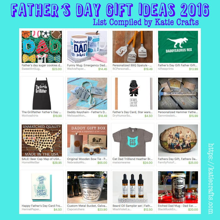Father's Day Gift Ideas 2016 on Katie Crafts; https://www.katiecrafts.com
